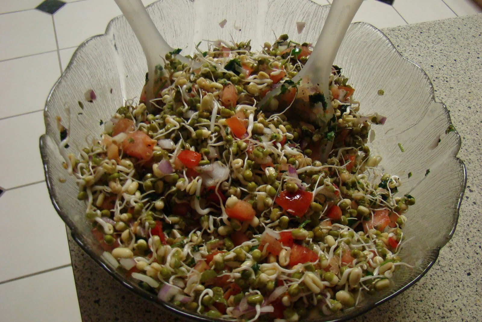 Sprouted Moong Bean Salad.
