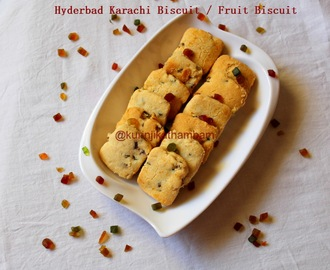 Hyderabad Karachi Fruit Biscuit (using wheat flour)
