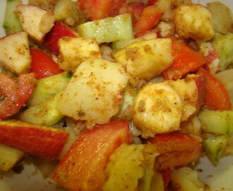 Simple Fruit and Veggie Chaat
