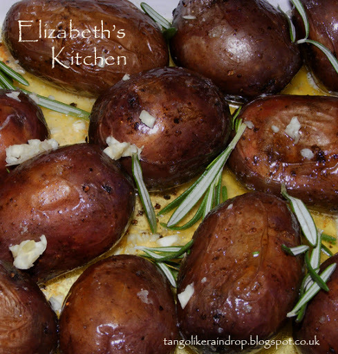 Roasted Shetland Black Potatoes with Sea Salt and Rosemary