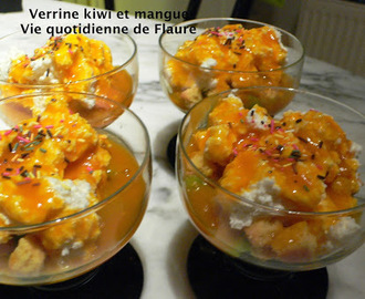Verrine kiwi et mangue