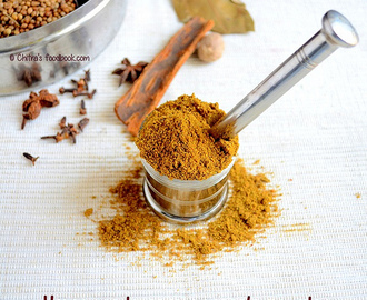 Homemade Garam Masala Powder Recipe-Podi Recipes