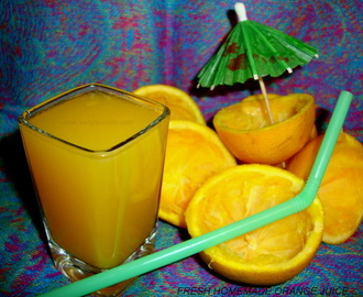 Fresh Homemade Orange Juice / Fresh Orange Juice