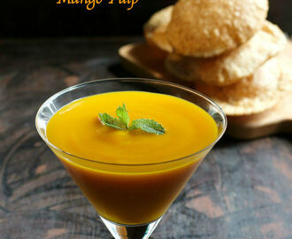 Aamras Puri Recipe | How to make Aamras Puri | Poori with Mango Pulp | Deep Fried Indian Bread with Sweet Mango Sauce