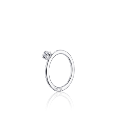 Love Bead Wedding Ring Vitguld 0,19 ct - 19,5 - 19,5
