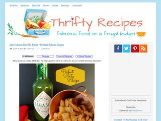 Thrifty Recipes — Just another WordPress site