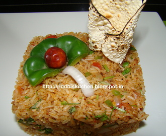 Tawa Brown Pulao ( Brown rice Flavored with Vegetables and  Paubhaji Masala )