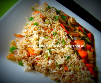 Veg Fried Rice With Tofu Curry
