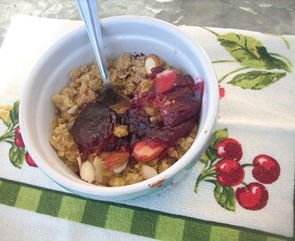 Plums Crumble
