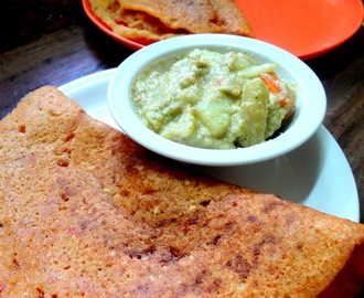 Healthy Nutritious Mixed lentils and rice crepes   ( Adai )
