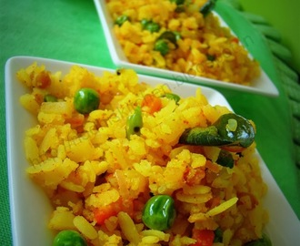 Vegetable Poha With South Indian Tadka