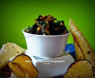 Methi(Fenugreek) aur Papad Ki Sabji