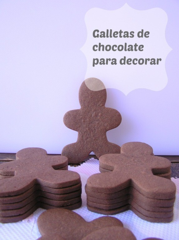 Galletas chocolate simpáticas y divertidas