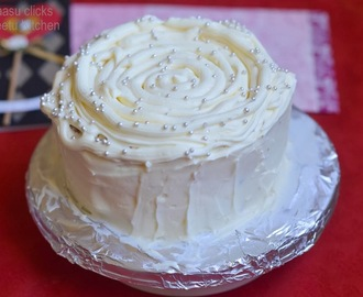 Eggless Carrot cake with Cream cheese frosting