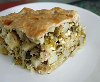 Caerphilly Cheese, Leek and Potato Pie