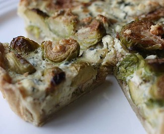 Brussels Sprouts and Blue CheeseTart