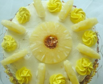 Pineapple Gateau | Pineapple Fresh cream layer cake | Fatless Sponge for Layered Cakes
