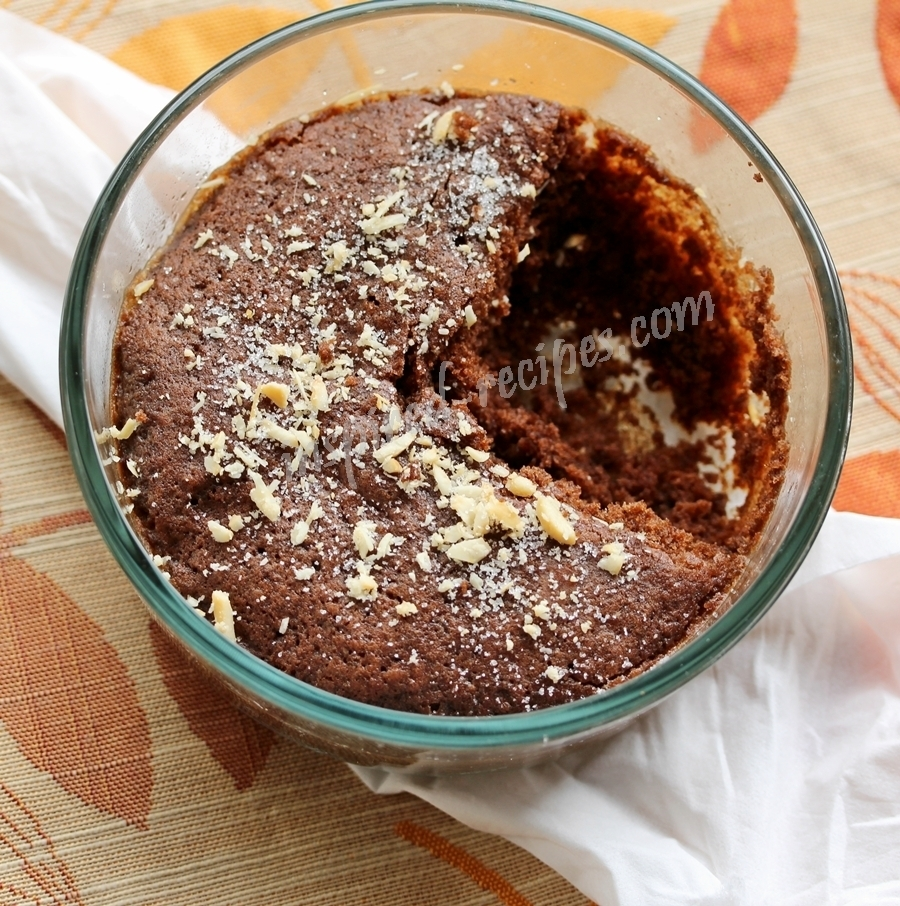 Eggless Microwave Chocolate Cake Recipe Under 2 Minutes