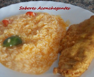 Filetes de Pescada com Arroz de Tomate