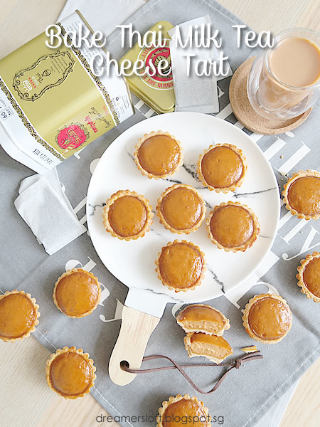 Thai Tea series - Part III Bake Thai Milk Tea Cheese Tart