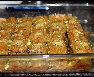Easy  homemade Baklava recipe