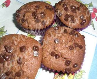 Muffins de mousse de chocolate