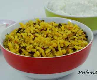Methi Pulao | Fenugreek Leaves Rice | Vendaya Keerai Satham
