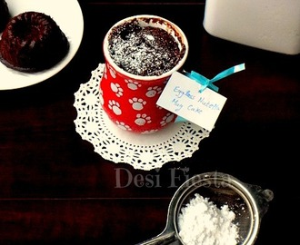 Eggless Nutella Chocolate Mug Cake
