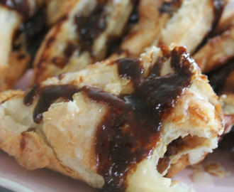 Sinner Thursdays - Caramel Apple Turnovers With Dark Chocolate Sauce
