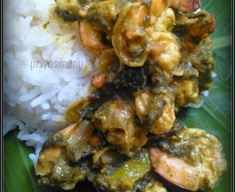 Royyalu Gongura / Prawns with Sorrel Leaves / Gongura Prawns
