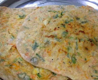 Potato Carrot Stuffed Paratha