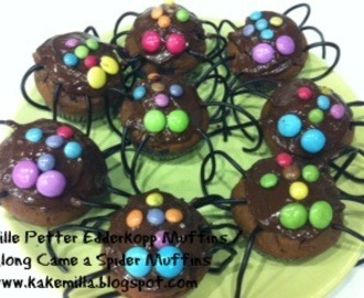 Lille Petter Edderkopp Muffins / Along Came a Spider Cupcakes