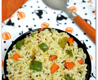 Capsicum Rice Recipe - How To Make Capsicum Rice/Bell Pepper Rice
