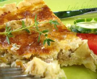 Quiche s tunom i artičokama :: Quiche with tuna and artichokes
