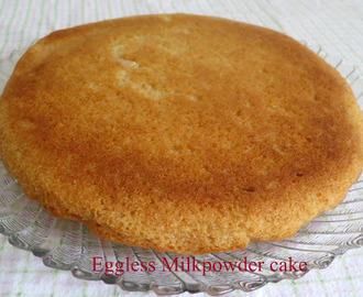 Eggless Milk powder Cake