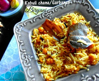 Kabuli Chana Biryani|Chickpeas/Garbanzo flavored rice|Chholay Biryani