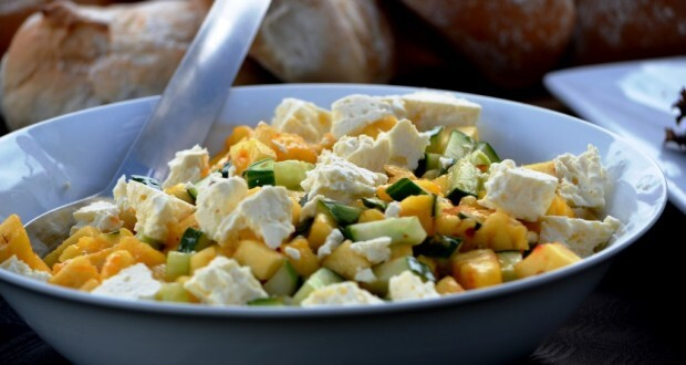 Cucumber Pineapple and sweet chili salad