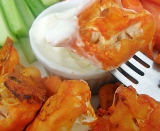 "Coliflor estilo ""boneless"" buffalo chicken"