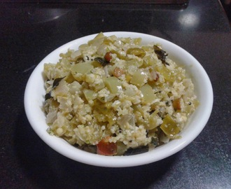 GREEN TOMATO PALYA / RAW TOMATO SABJI FOR CHAPATHI