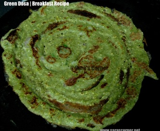Green Dosa | Crepes | Savory Pancake! Healthy Breakfast!