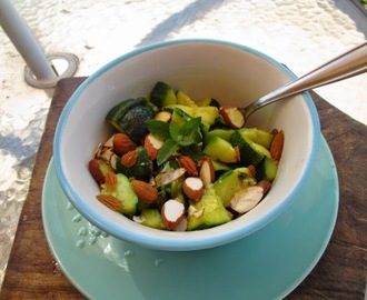 zucchini and almond salad  with mint (ensalada de zapallitos y almendras)