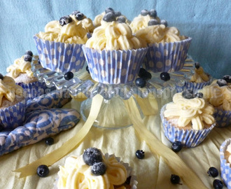 Blueberry Cupcakes with Lemon Buttercream