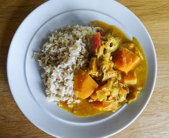 Chicken and Apricot Curry and a review