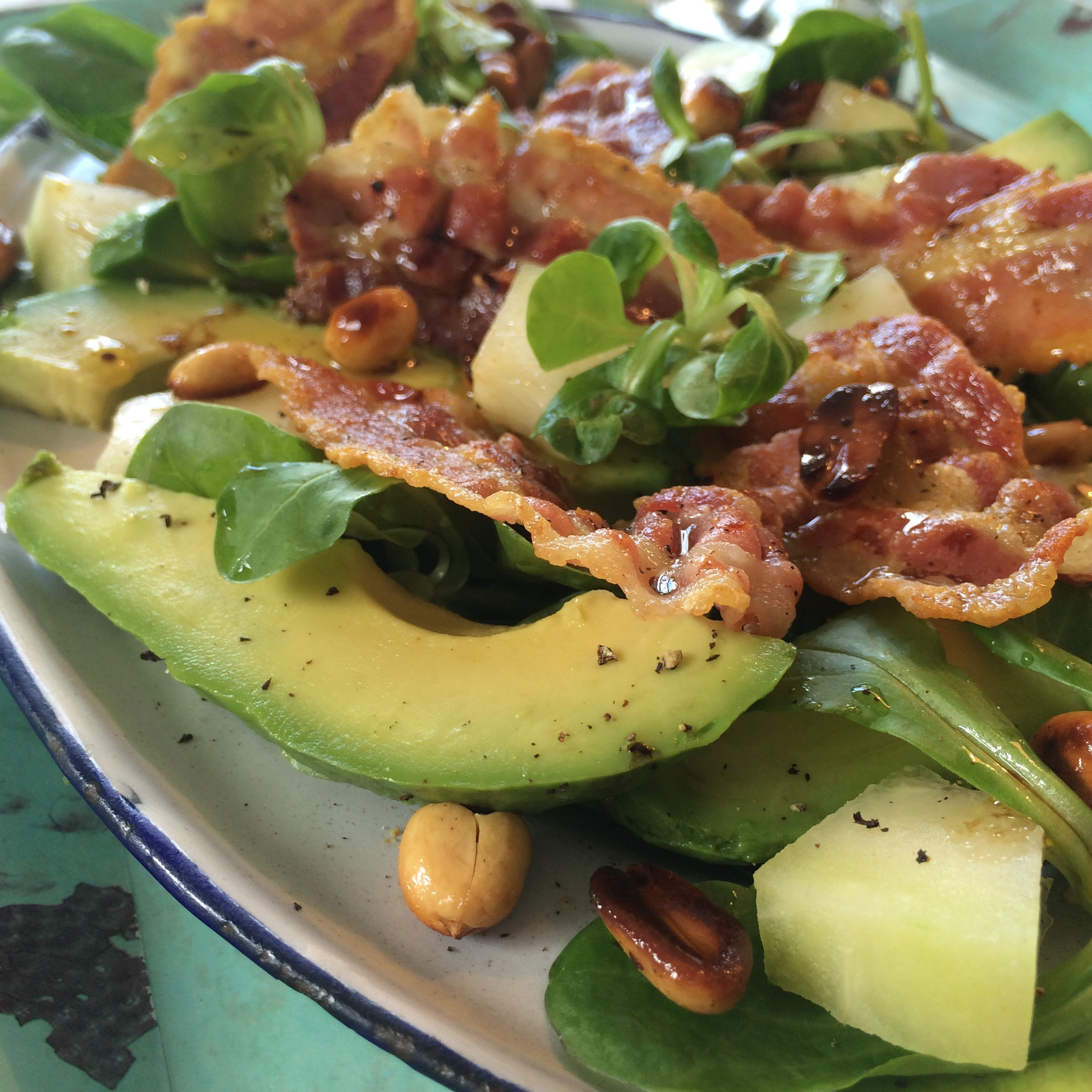 AVOCADO, BACON OG MELON SALAT
