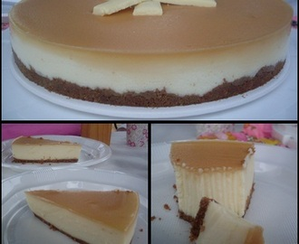 Tarta de chocolate blanco y mascarpone