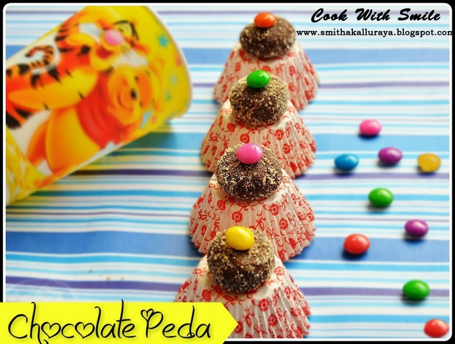 CHOCOLATE PEDAS / MARIE BISCUIT CHOCOLATE BALLS - NO COOK RECIPE FOR KIDS