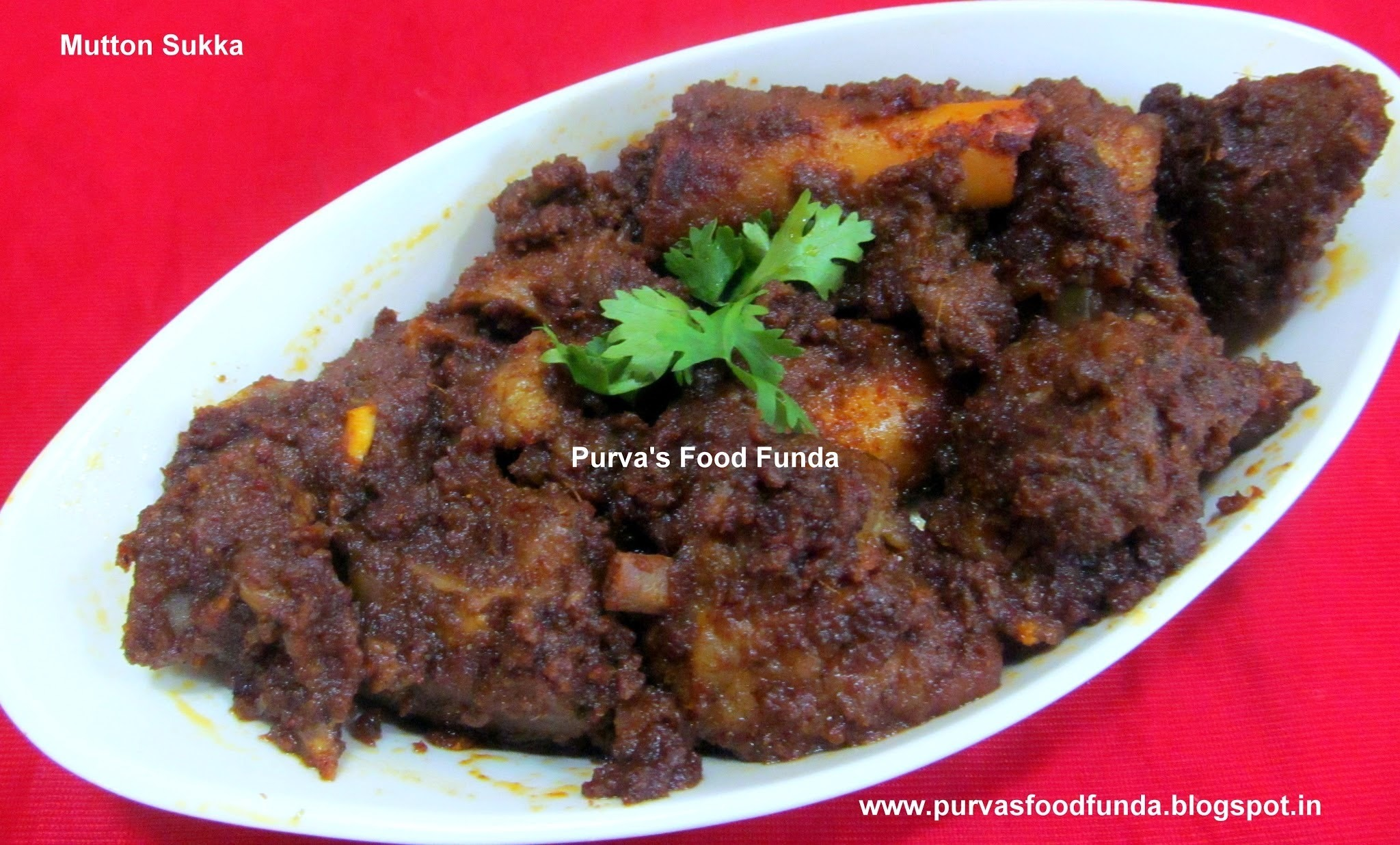 Dry Mutton Curry (Mutton Sukka or Mutton Sukka Fry)