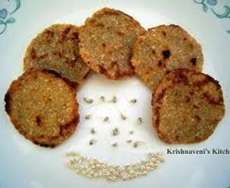 KAMBU PATTIES (MILLET CUTLET)