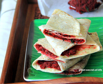 Beetroot Wrap - Healthy Kids lunch box item - Perfect Brunch recipe