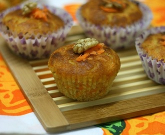 Carrot Muffins [Eggless]